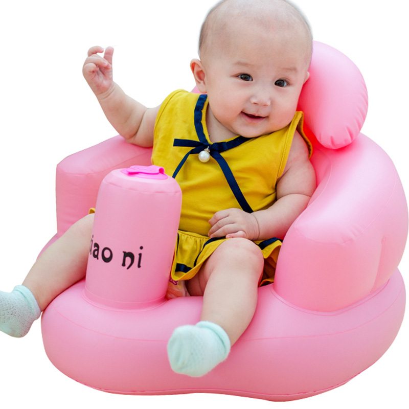 Baby Kid Children Inflatable Bathroom Sofa Chair Seat Learn Portable Multifunctional New P7Ding