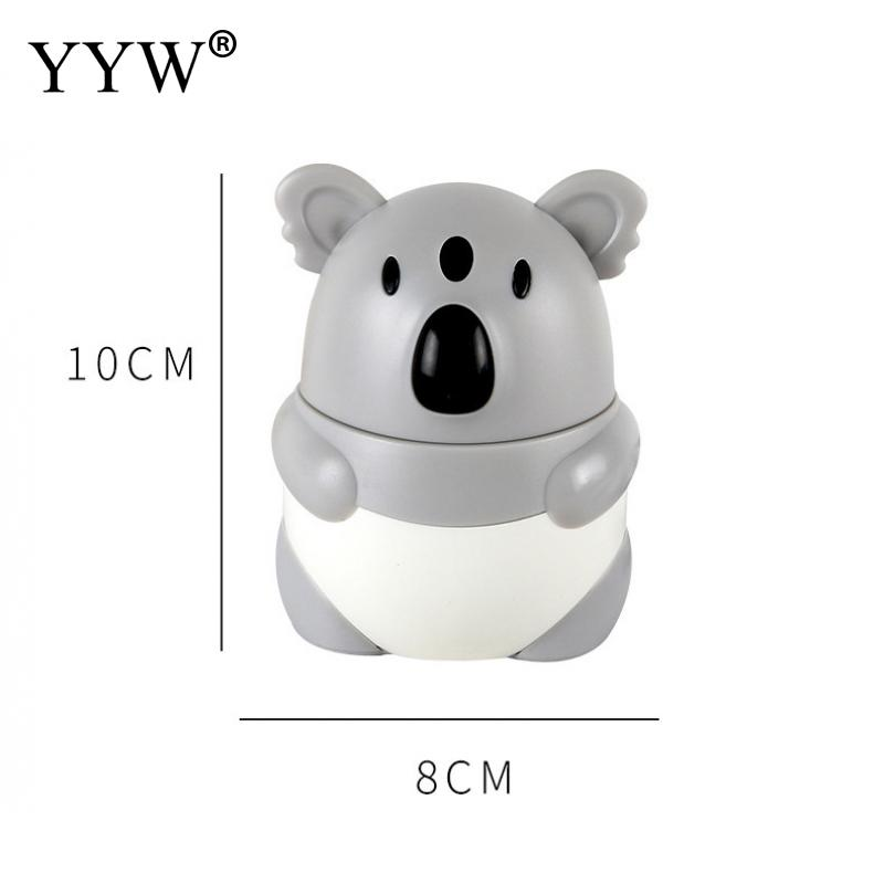 1PCS Wheat Straw Creative Toothpick Box Cute Cartoon Koala Toothpick Storage Box Toothpick Holder Dispenser Hand Press Container in Toothpick Holders from Home Garden