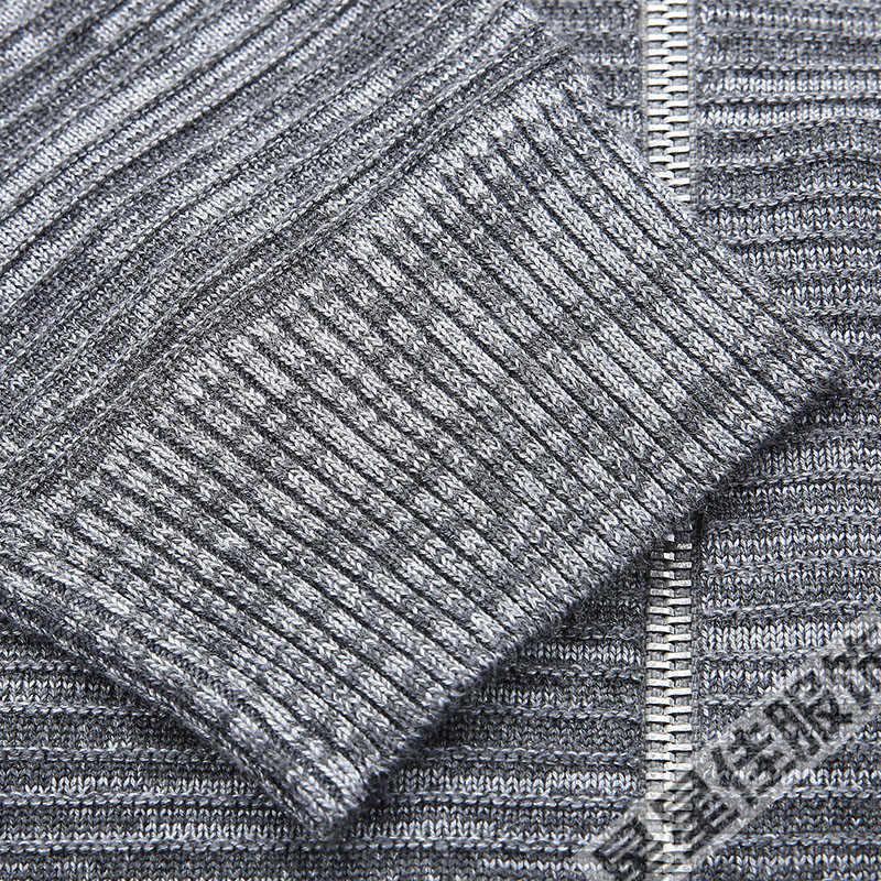 플러스 사이즈 8XL 6XL 5XL 4XL 남성용 스웨터 가을 겨울 따뜻한 캐시미어 울 지퍼 풀오버 스웨터 남성 캐주얼 니트 가디건