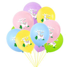 Multicolor 10 stks/partij Cartoon Dier Alpaca Lama Latex Ballonnen Bruiloft Baby Shower Verjaardag Party Decor Globos(China)