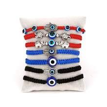 Glück Blau Evil Eye Charms Armband Handgemachte Schwarz Rot String Gewinde Seil Paar Armband 2020 Glück Schmuck Für Frauen Männer geschenke
