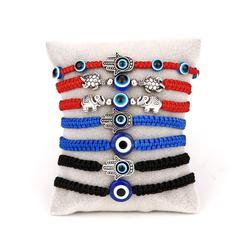 Lucky Blue Evil Eye Charms Bracelet Handmade Black Red String Thread Rope Couple Bracelet 2020 Lucky Jewelry For Women Men Gifts