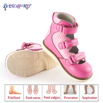 Princepard 2019 summer autumn orthopedic shoes for kids  genuine leather children sandals european sieze 19-37