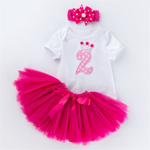 Baby girl clothes 2nd Birthday Dress Outfits 2 years Girls Boutique Clothing Christening Dresses For Toddler Girls
