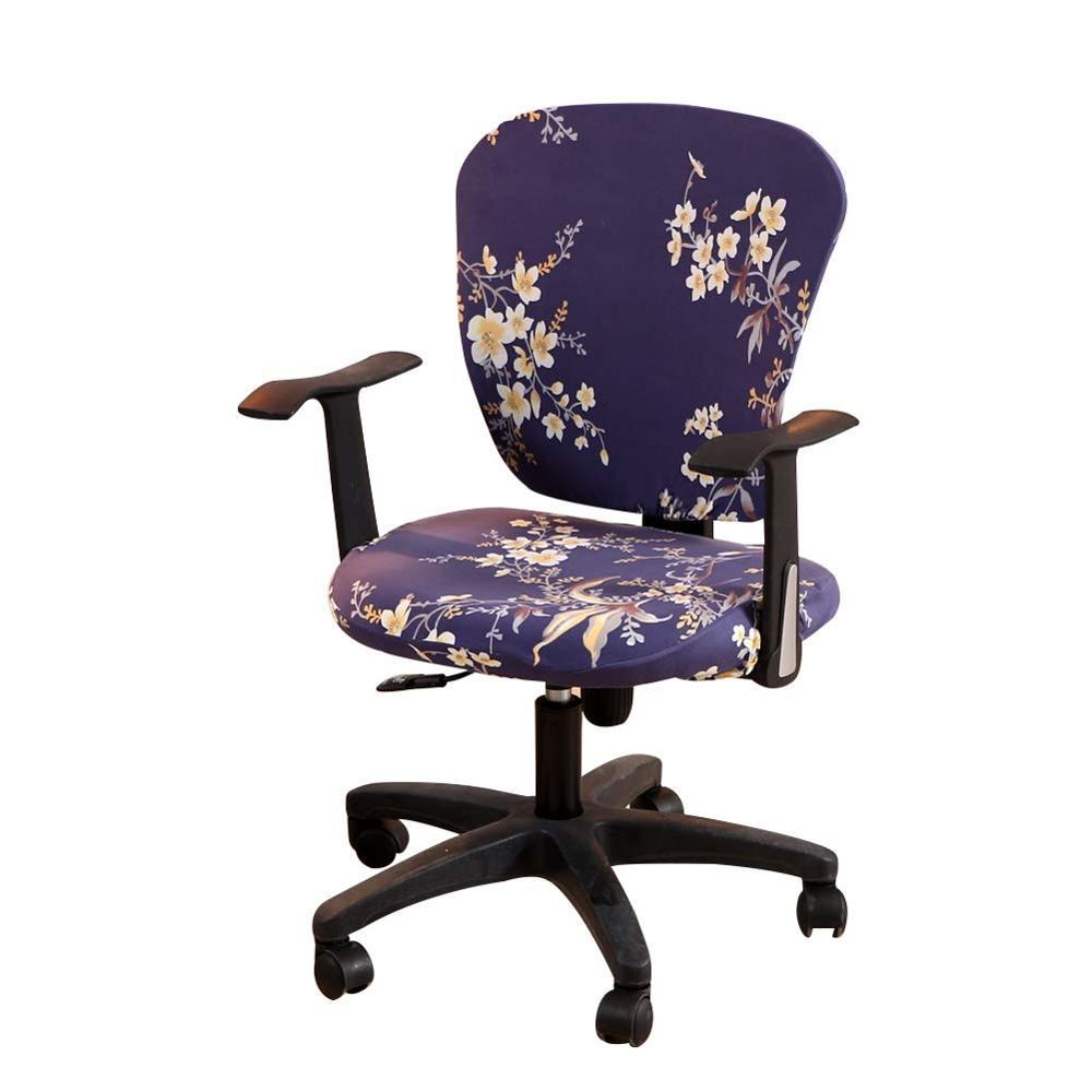 Split Protective Stretchable Cloth Polyester Universal Desk Task Chair Chair Covers Stretch Rotating Chair Slipcover Computer Office Chair Cover Home Accessories Slipcovers