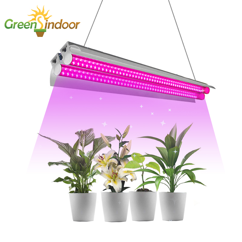 LED Grow Light 100W Full Spectrum 400nm-830nm Phyto Lamp 50cm Growing LED Lighting Double Tube For Hydroponic Plants Indoor Led