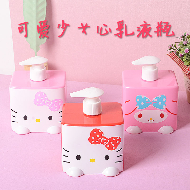 Hello Kitty Plastic Containers Storage Container Empty Cosmetic Bath Lotion Bottle Hand Sanitizer Bottle