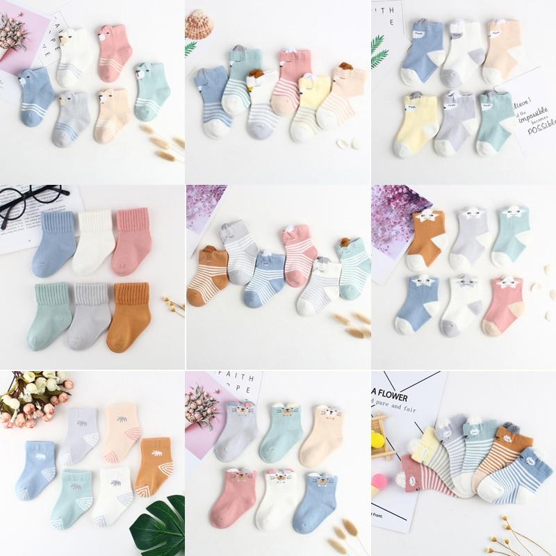 2019 6Pair/lot New Baby Children Toddler Socks Cute Cartoon Boys And Girls Baby Newborn Foot Socks