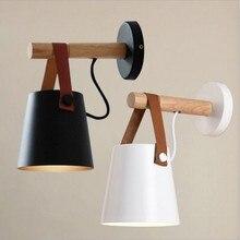Lámpara LED de pared de madera de estilo nórdico Vintage para dormitorio, cabecera, luces de pared, pasillo, Hotel, 110-240 V, luces y iluminación de decoración