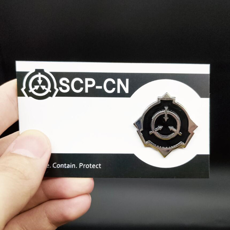 SCP Special Containment Procedures Foundation Metal Badge Cosplay Brooch Pin