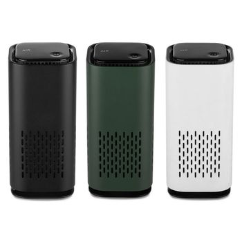 цена на Portable Mini Car Air Purifier Cleaner USB Chargeable Negative Ion Generator Personal Odor Eliminator Freshener for Home