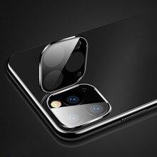 3D полный задний объектив камеры протектор экрана для iPhone 11 Pro макс. Закаленное стекло пленка алюминиевый объектив защитный чехол для iPhone 11