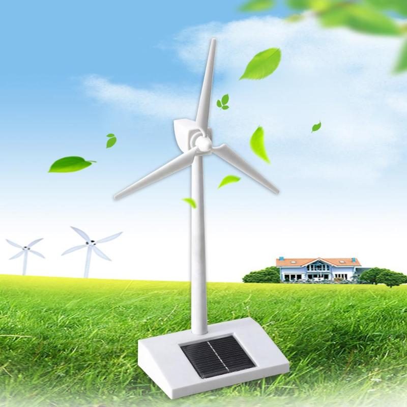 Solar Powered 3D Windmill Assembled Model Education Fun Kids Toy Gift Wind Turbine White for Kids Children Toys|Figurines & Miniatures| |  - title=