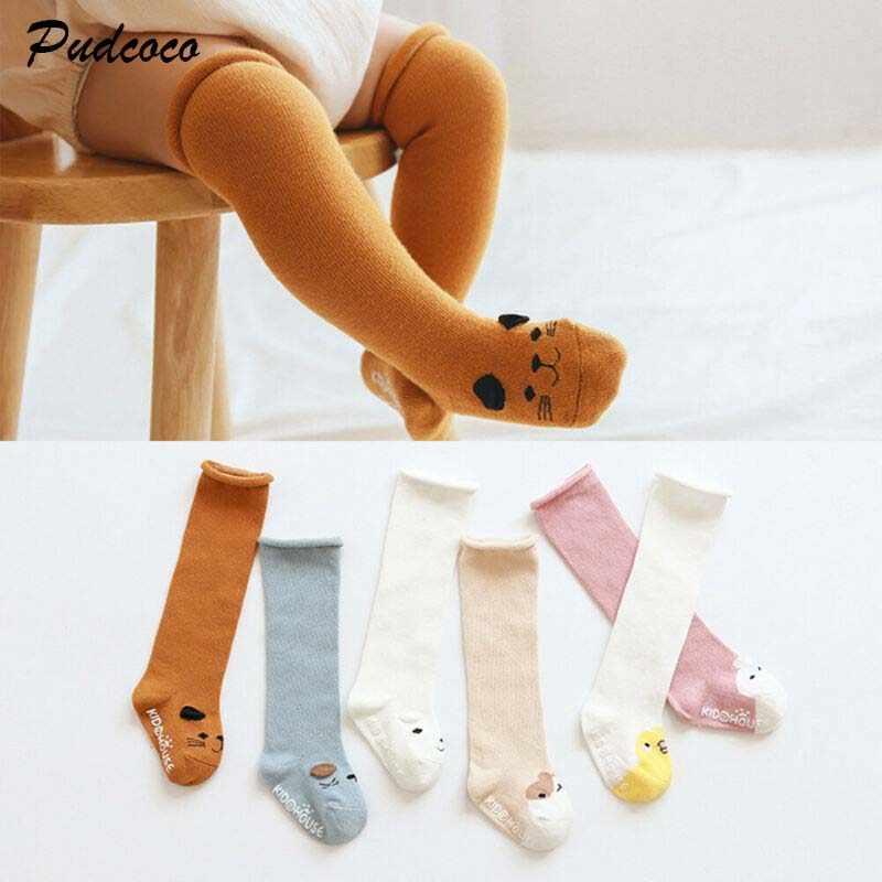 Newborn Infant Socks tights  High Knee Sock Cotton Cartoon Kids Stockings