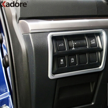 For Subaru Outback 2015 2016 ABS Chrome Multiple Button Matte Frame Cover Inner Door Window Switch Panel Trim Auto Parts 1pc/set image