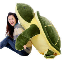 Fancytrader 59'' JUMBO Giant Plush Turtle Soft Big Animal Tortoise Sofa Bed Toy Doll Great Birthday Gift for Kids 150cm