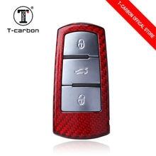 In Fibra di carbonio Car Styling Copertura Della Cassa Chiave Per Volkswagen Passat CC B6 B7 Maogotan R36 B7L Chiave Della Copertura di Accessori Per Auto per la chiave di vw