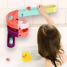 DIY Детские Игрушки для ванны на присоске, Мраморная гоночная дорожка, ванная комната, ванна для детей, игрушки для игры в водные игры, набор для детей
