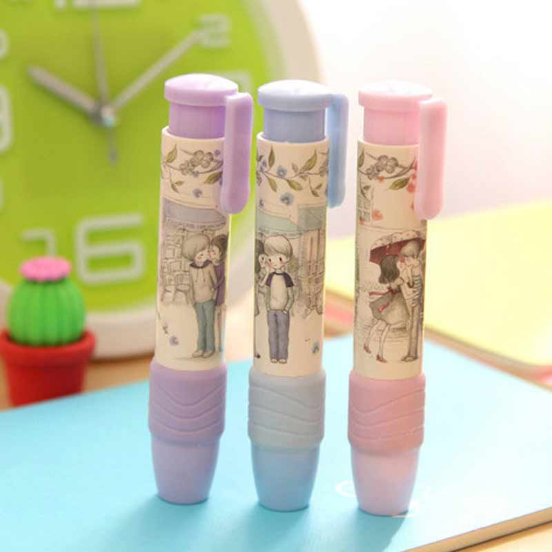 Cute Designer Students Pen Shape Eraser Rubber Stationery Kid Gift Toy School Supplies JHP-Best