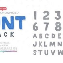 Clay Letters Font Pack - Download 22607473 Videohive