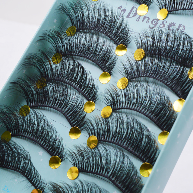 10 pairs natural false eyelashes fake lashes long makeup 3d mink lashes eyelash extension mink eyelashes for beauty 3D66-71 5