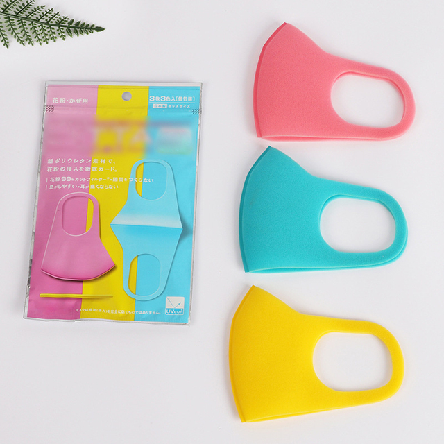 3pcs Children Mouth Mask Anti Dust Haze Sponge Mouth Face Mask Respirator Masks bacteria proof Flu Face masks Care with 6 color 5