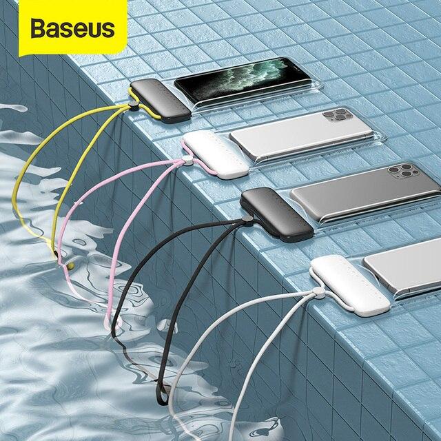 Baseus 7.2 inç su geçirmez telefon kılıfı çanta yüzme kiti evrensel cep telefonu kılıfı telefon kılıfı kapak Drift dalış sörf