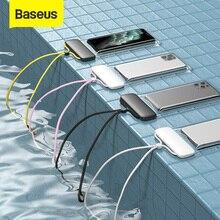 Baseus funda de teléfono impermeable de 7,2 pulgadas, bolsa de natación, bolsa del teléfono móvil Universal, funda para buceo y surf
