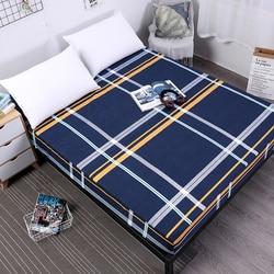 Mecerock nova impressão cama colchão capa colchão à prova dwaterproof água protetor almofada equipada folha separada roupa de cama com elástico