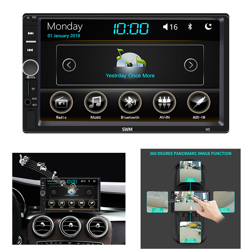 player touch screen bluetooth mp5 jogadores aux