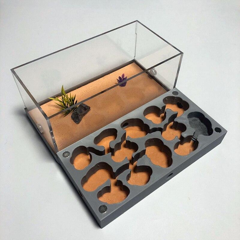 3D Print Moisturizing Acrylic Ant Farm Ecological Ant Nest With Feeding Area Concrete Ant House Pet Anthill Workshop