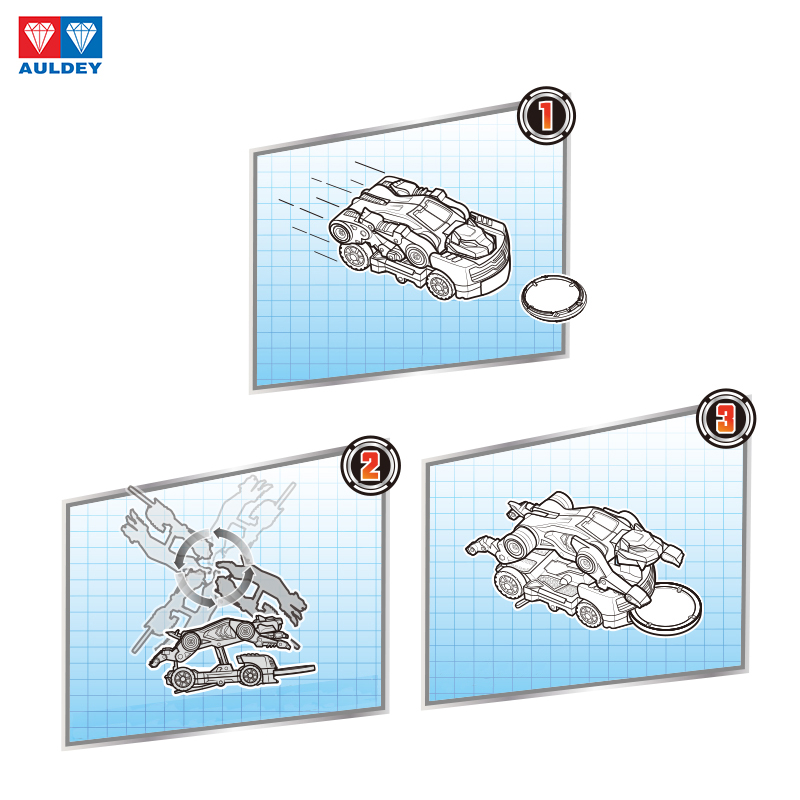 Image 5 - AULDEY Screeches Wild Burst Deformation Car Action Figures DPTI Morphs Capture Wafer 360 Degree Transformation Car ToysAction & Toy Figures   -