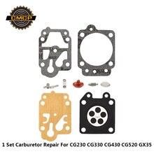 1 комплект карбюратор для ремонта ремонтного карбюратора комплект для кустореза CG230 CG330 CG430 CG520 GX35 триммер для травы бензопила ремонтный комплект
