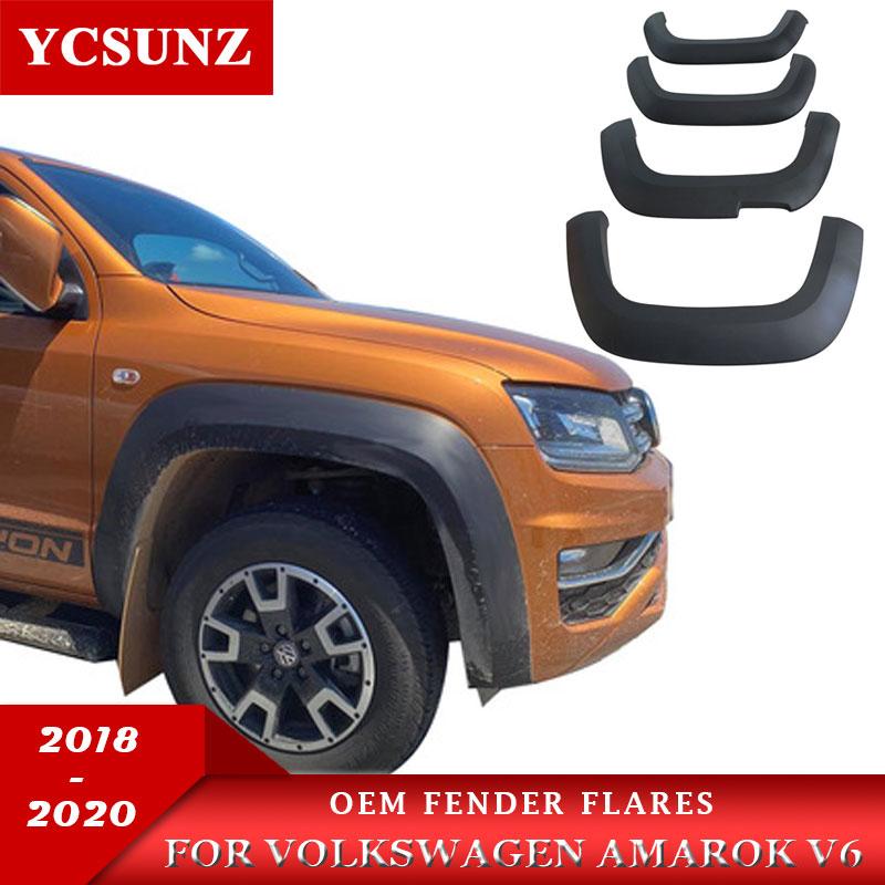 Oem Fender Flares Car Accessories Black Mudguard For Volkswagen Amarok V6 2018 2019 2020 Double Cabin Ycsunz Mudguards Aliexpress