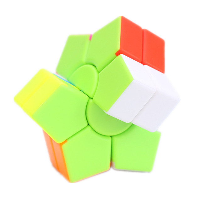 Jiehui Hexagram two-layer Square Hexagon Speed Magic Cube Twist Puzzle Educational Colorful Puzzle Professional 2