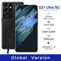 Galxy 6,7 дюймов 6800 мА/ч, лидер продаж S21 ультра смартфон 50MP большой Экран 5G 12 ГБ 512 10-ядерный мобильный телефон