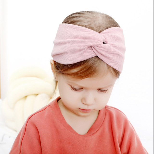 New Soft Elastic Cotton Newborn Girls Knit Hats 3