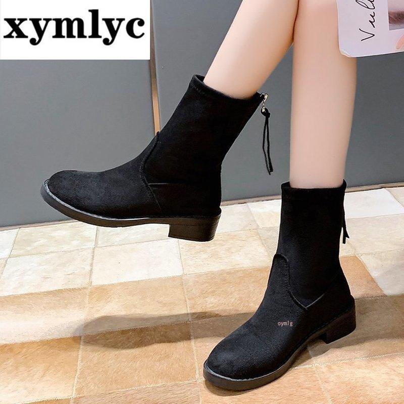 2020 зимняя обувь женские ботинки теплые плюшевые ботильоны