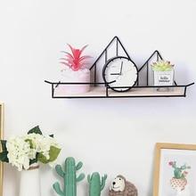 Wooden Iron Wall Shelf…
