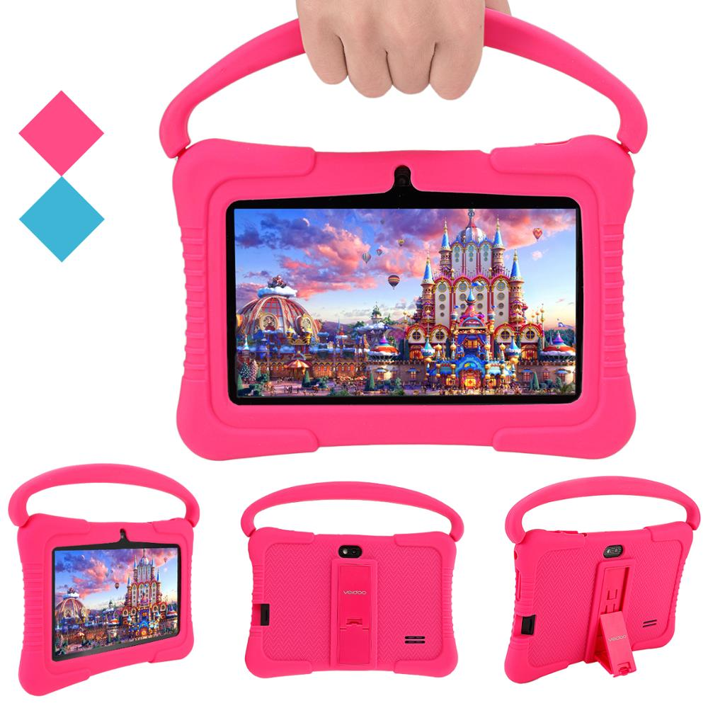 Kids Tablet PC Veidoo GMS Android 8.1 Camera Supported Wifi 16GB ROM Children 7 Inch IPS Display Child-Proof Case With Handle