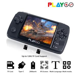 WOLSEN Playgo zmodernizowane 3.5 Cal IPS Retro wideo przenośna konsola do gier zbudowany w 16GB karty SD 64 Bit Emulator konsola do gier dla PS1 GBA