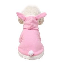 Costume Pet-Cat-Clothes Coat Puppy-Fleece Pet-Outfit--M25 Rabbit Warm Cute Hooded Ears