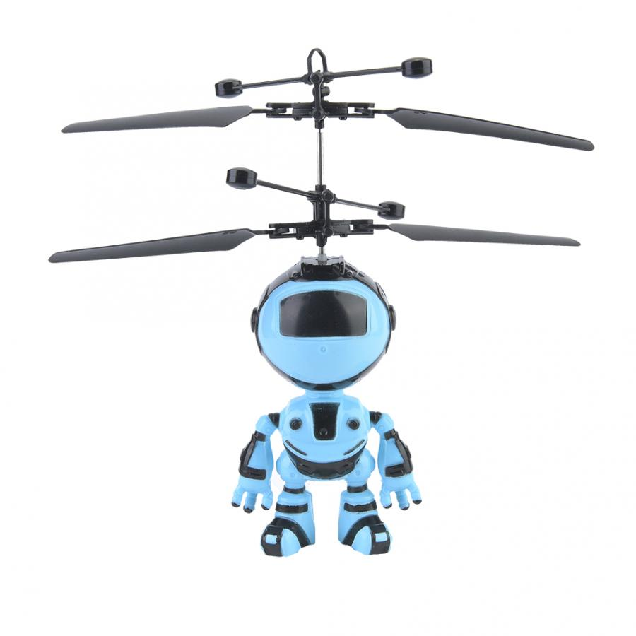 Mini Induction Aircraft Toy Intelligent Hand Sensing Robot Electronic Aircraft Suspension Mini Drone With Light For Kids Toys