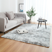 Tie dyed Gradient Color Plush Super Soft Carpet Anti slip Floor Table Mats Fluffy Area Rug For Living Room Bedroom Home Decor