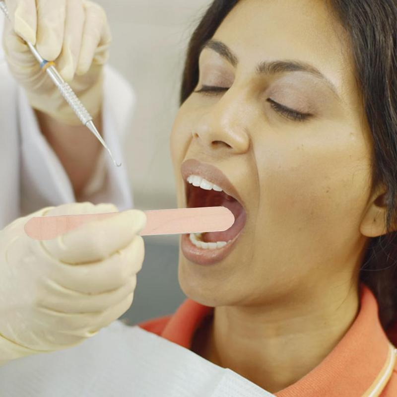 100pcs Wooden Disposable Spatula Tongue Depressors Medical Waxing Sticks Hair Removal Beauty Tools Kits 150x19x1.8mm