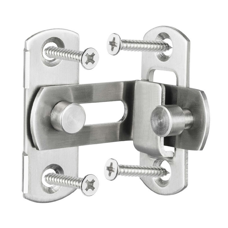 3/4 Inch 90 Degree Right Angle Door Latch Hasp Bending Latch  Barrel Bolt With Screws For Doors Buckle Bolt Sliding Lock