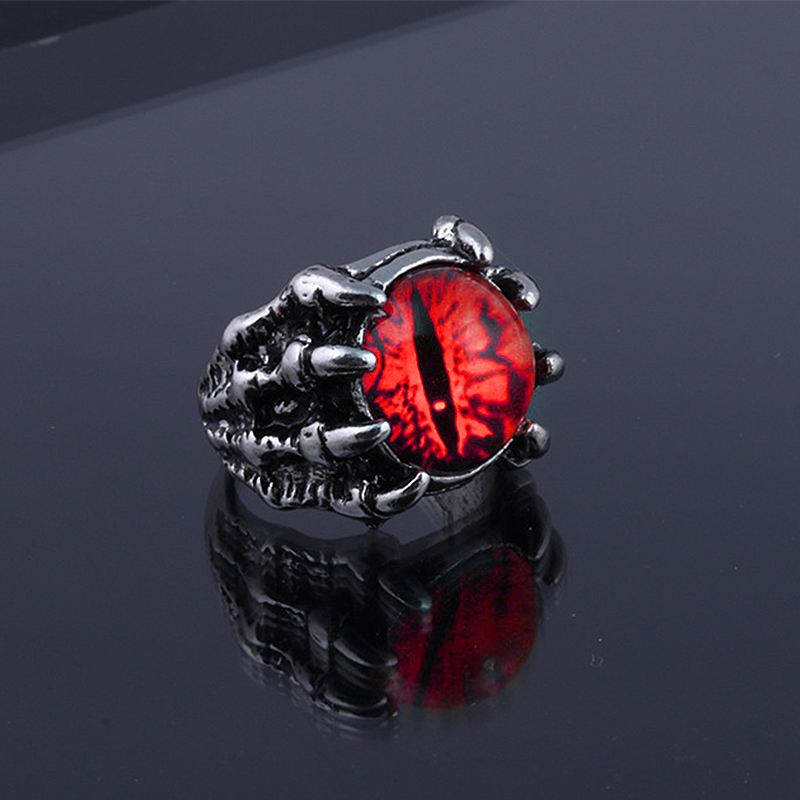 Fashion Creative Evil Eye Rings For Men Women Personality Male Punk 4 Colors Ring Jewelry Men's Bar Night Club Accessories Gifts