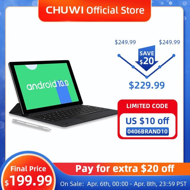 Tablet PC Chuwi - Tela de 10.1 Polegadas - Sistema Operacional Android 10 - 6GB de memoria RAM -  Processador Octa-Core - 128GB Armazenamento Interno -   Suporte 4G  1