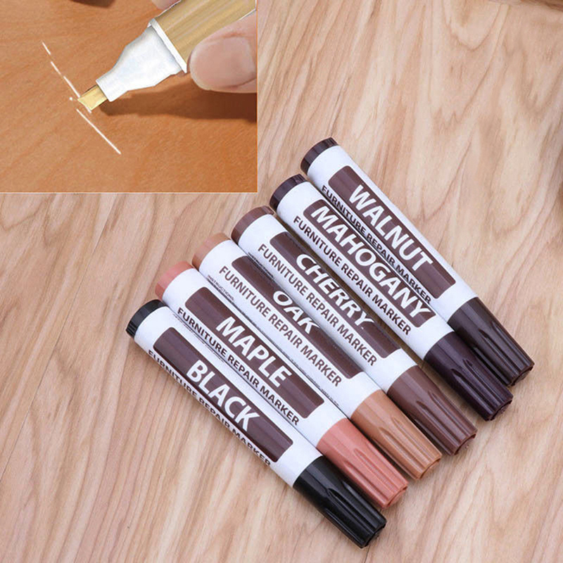 1pc New Furniture Color Pen Repair Scratch Scratch Paint Wood Grain Color Correction Repair Scrape Paint Supplement Color Pen
