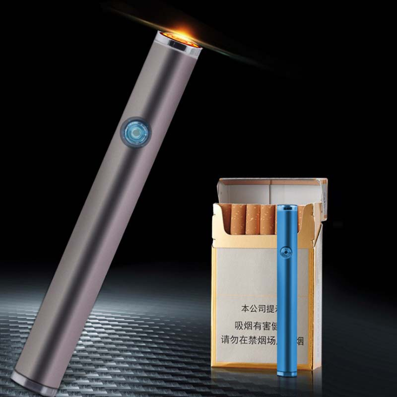 Can Be Placed Cigarette Box USB Lighter Charging Cigarette Lighter Smart Mute Electronic Lighter Smoke Accessories